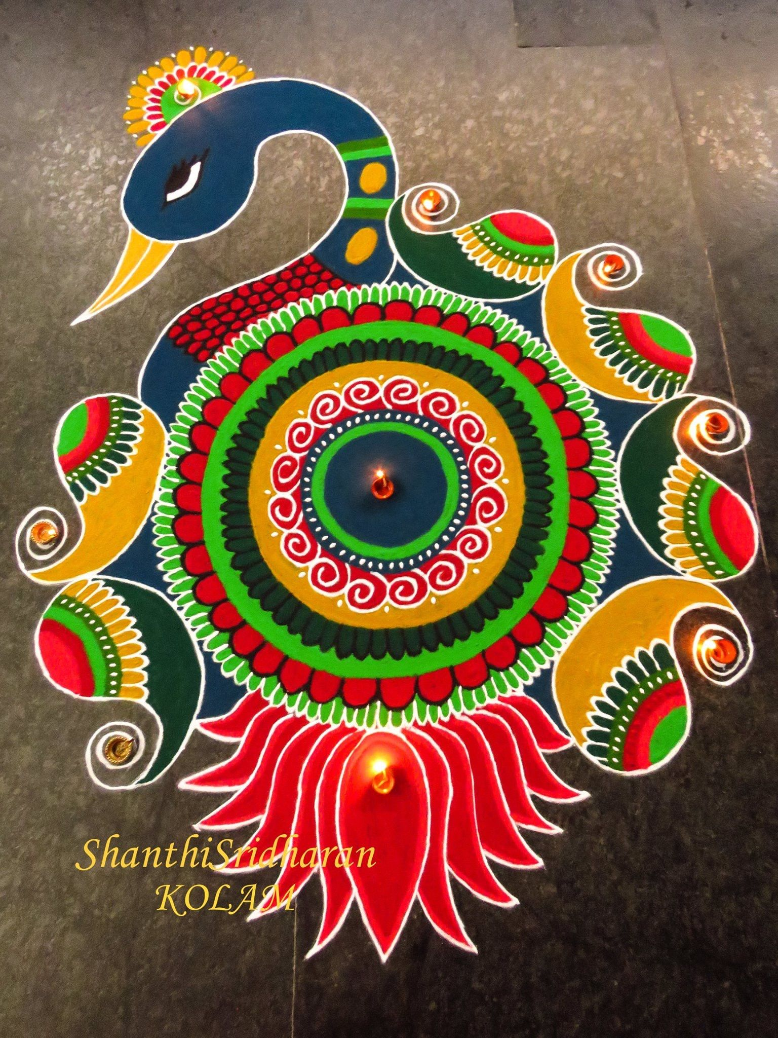 Pin by Shakila Raj on Rangoli   Big rangoli designs ... Diwali Rangoli Images Designs Diwali Rangoli