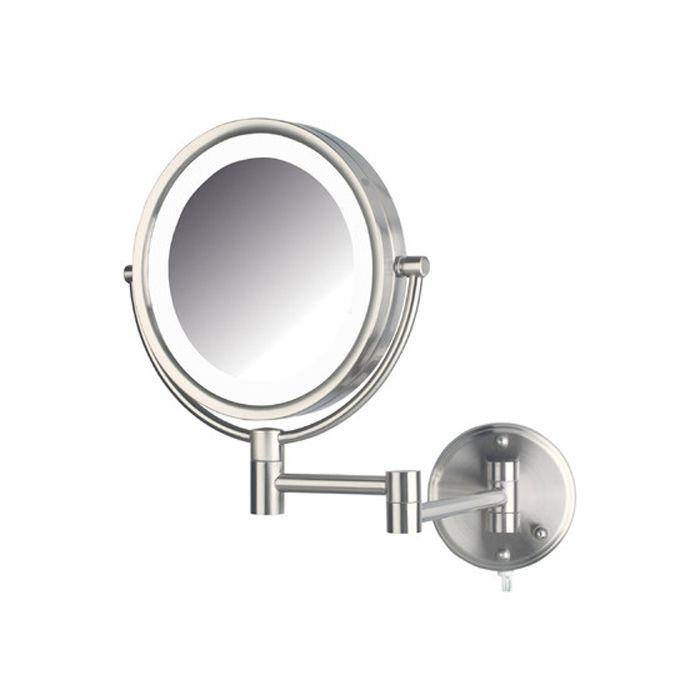 Jerdon Model Hl88nl 8x Wall Mounted Led Lighted Mirror Nickel Wall Mounted Makeup Mirror Lighted Wall Mirror Shaving Mirror