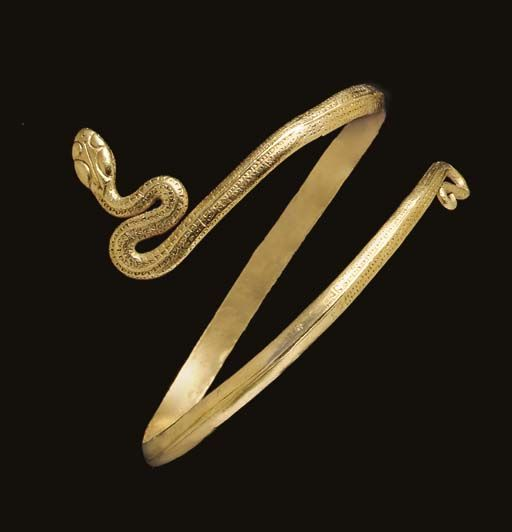 A GREEK GOLD SNAKE BRACELET HELLENISTIC PERIOD CIRCA 2ND1ST
