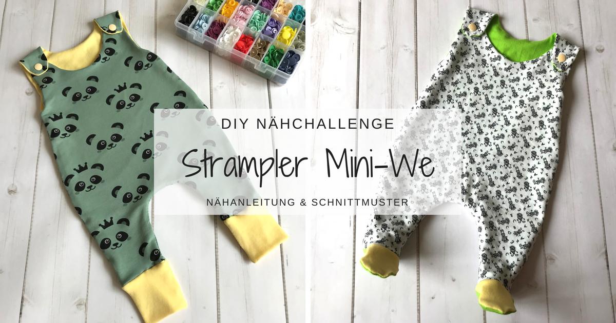Photo of Strampler Mini-We – Nähanleitung inkl. Schnittmuster » BASTELRADO