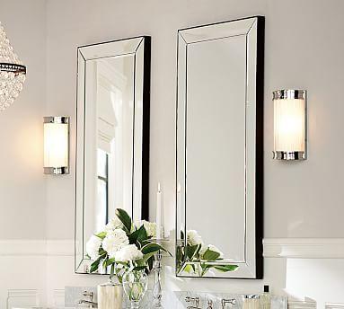 Astor Mirror Pottery Barn Rectangular Mirror Bath Mirror