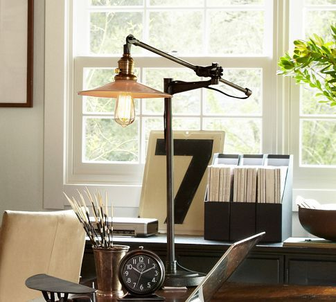 Peterson Task Table Lamp By Pottery Barn Love The Open Filament