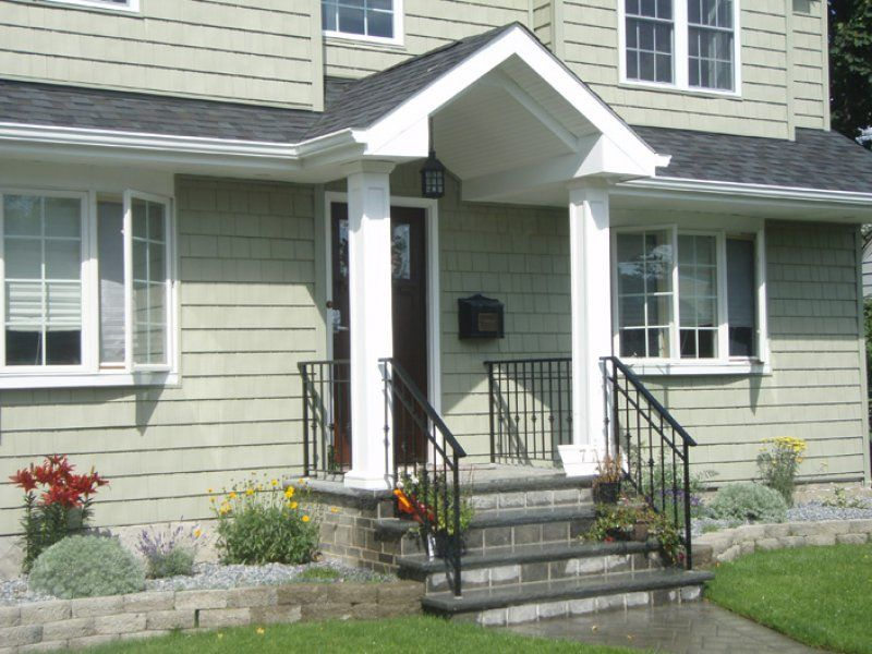 Front Porch With 8 Columns Installing Exterior Door New Home Construction Dormers