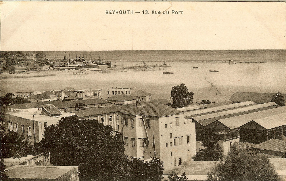 Beirut Port [1932] | Beirut, Baalbek, French postcard
