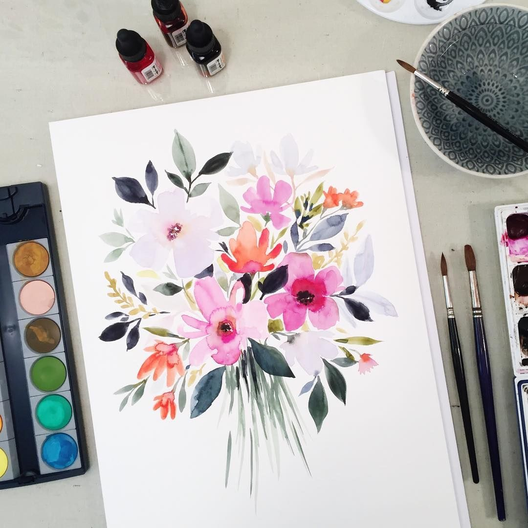 Stephanie Ryan Watercolors Aquarelle Fleurs A L Aquarelle
