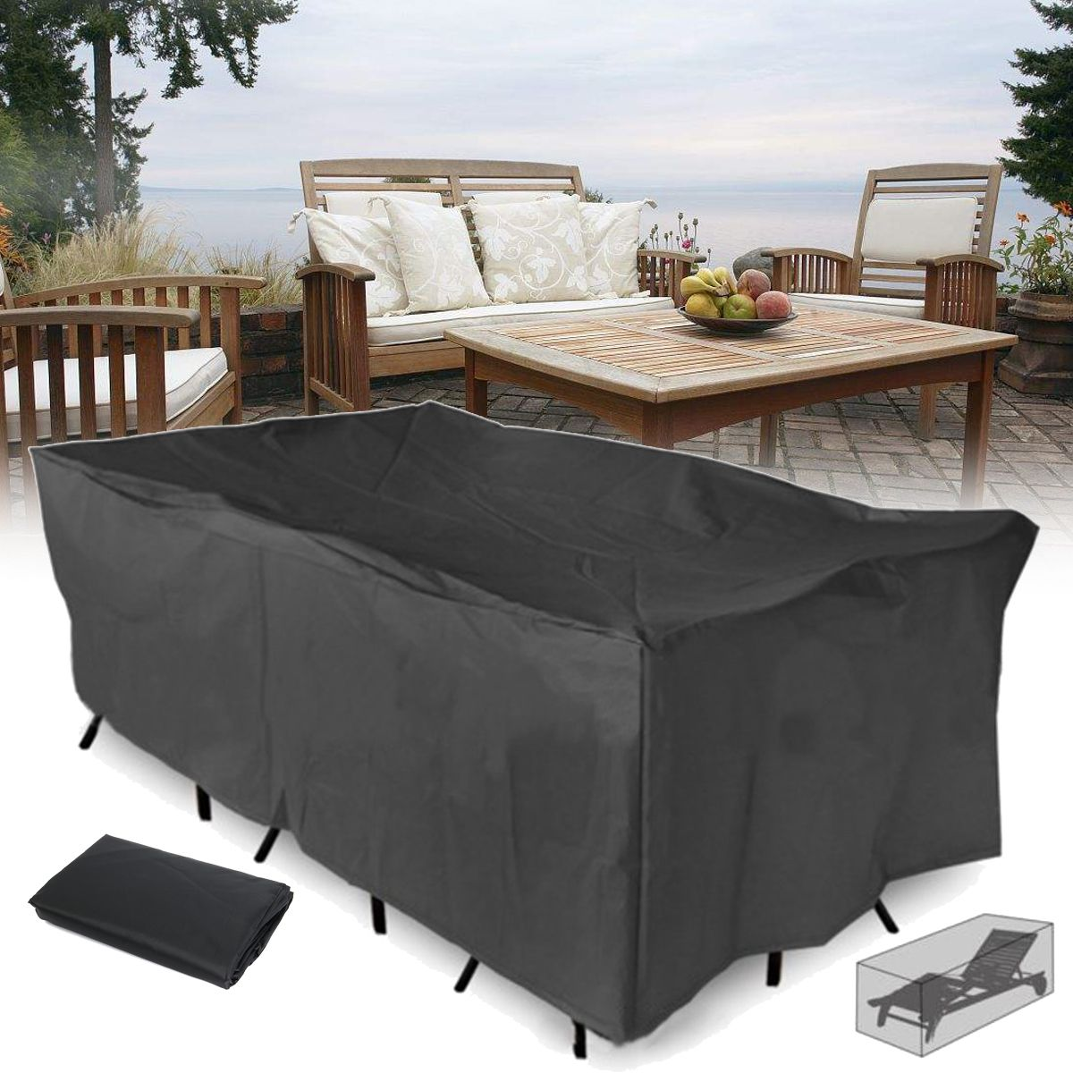 210x110x70CM al aire libre muebles de patio jardín Impermeable ...