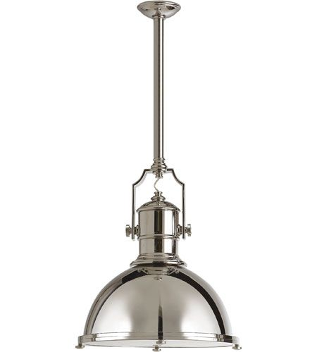 Visual Comfort CHC5136BZ-BZ E. F. Chapman Country Industrial 1 Light 20  inch Bronze Pendant Ceiling Light - Visual Comfort CHC5136BZ-BZ E. F. Chapman Country Industrial 1