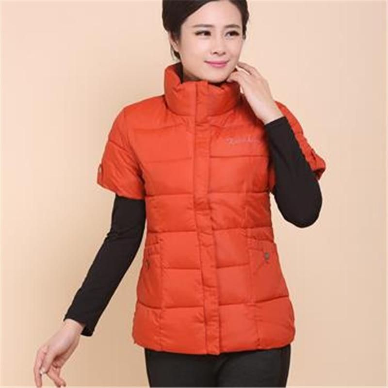 Woman Autumn Plus Size Thick Down Vest Female Spring