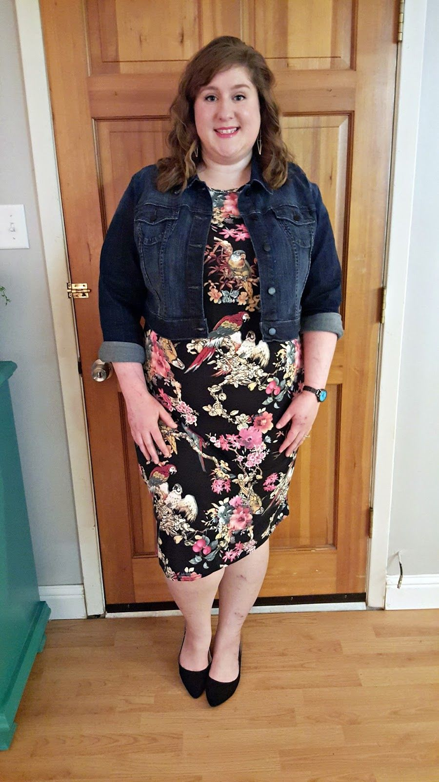 Spring plus size jacket dresses