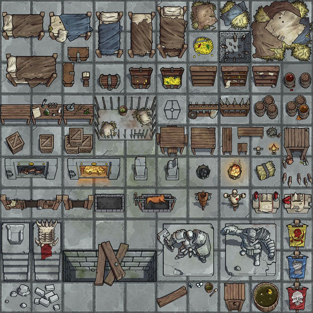 ArtStation Generic dungeon scatter props, Michael