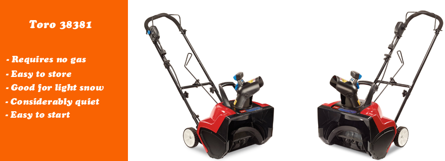 Toro 38381 Electric Snow Blower Review Snow Blower Electric Snow Blower Snow