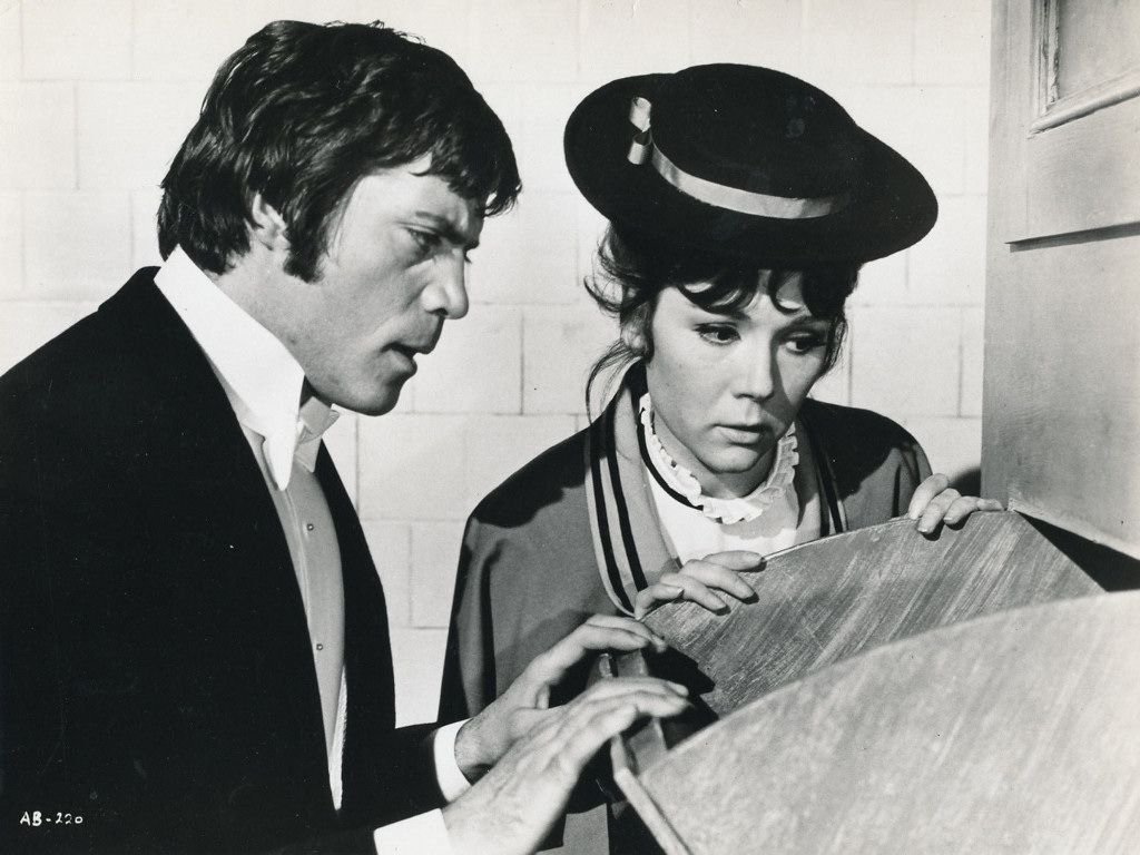 sixties oliver reed and diana rigg in the assassination bureau 1969 entertainment film. Black Bedroom Furniture Sets. Home Design Ideas