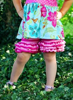 Isla's Knit Ruffle Shorts | What's New | YouCanMakeThis.com