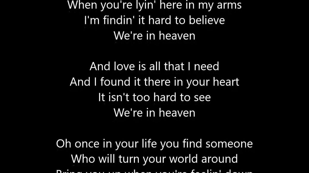 Bryan Adams Heaven Lyrics Scrollin Just 4 U C Shita X Funkkn