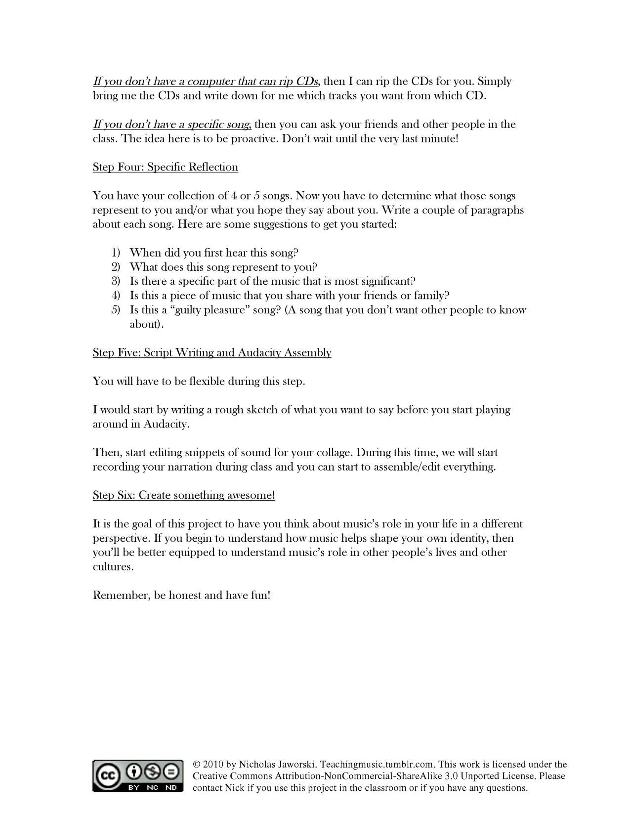 Music and Identity grade 6 lesson Lesson Ideas Pinterest – Six Step Lesson Plan