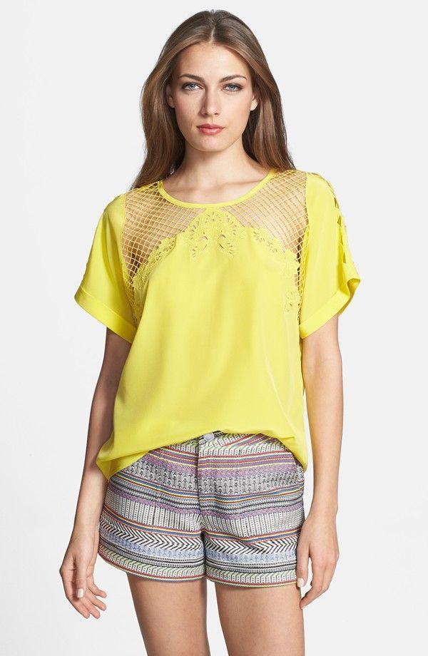 Evita' Embroidered Silk Top