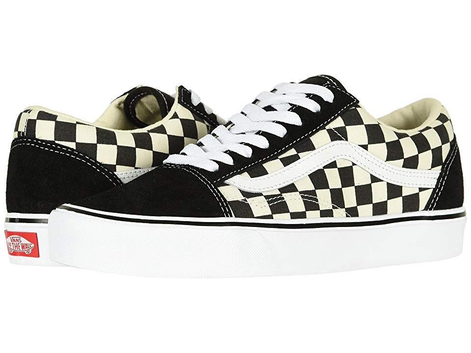 Vans Old Skool Lite Skate Shoes Checkerboard Black White Vans Old Skool Shoes Vans