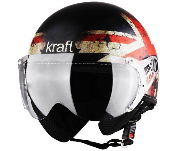 Capacete Aberto Plus Personalizado Reino Unido Fosco Kraft
