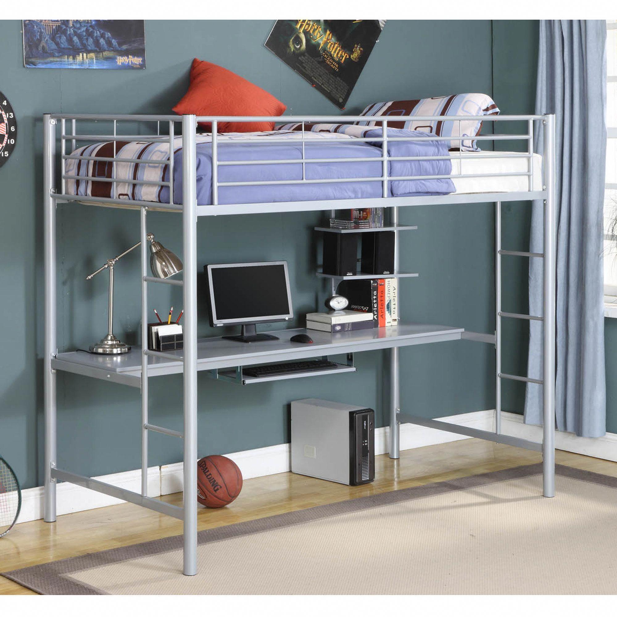 "2ec4827f64e1e Belfort Twin Loft Bed with Wood Workstation  ""bunkbedswithdesksunderneath"""