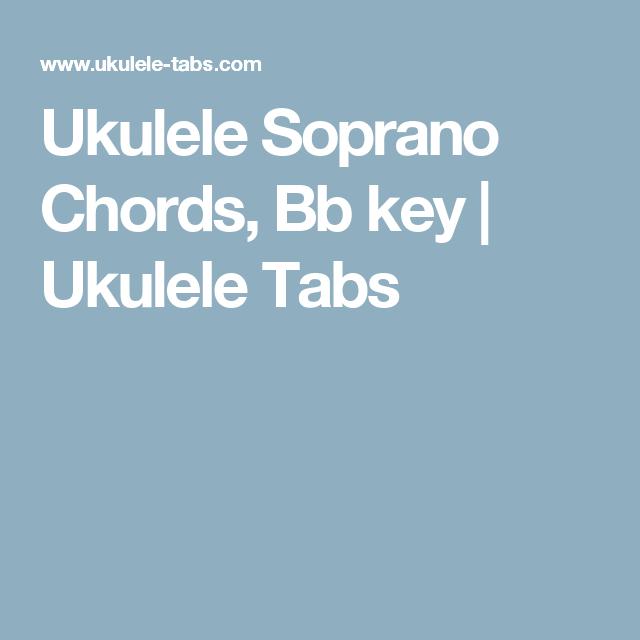 Ukulele Soprano Chords Bb Key Ukulele Tabs 100 Job Pinterest