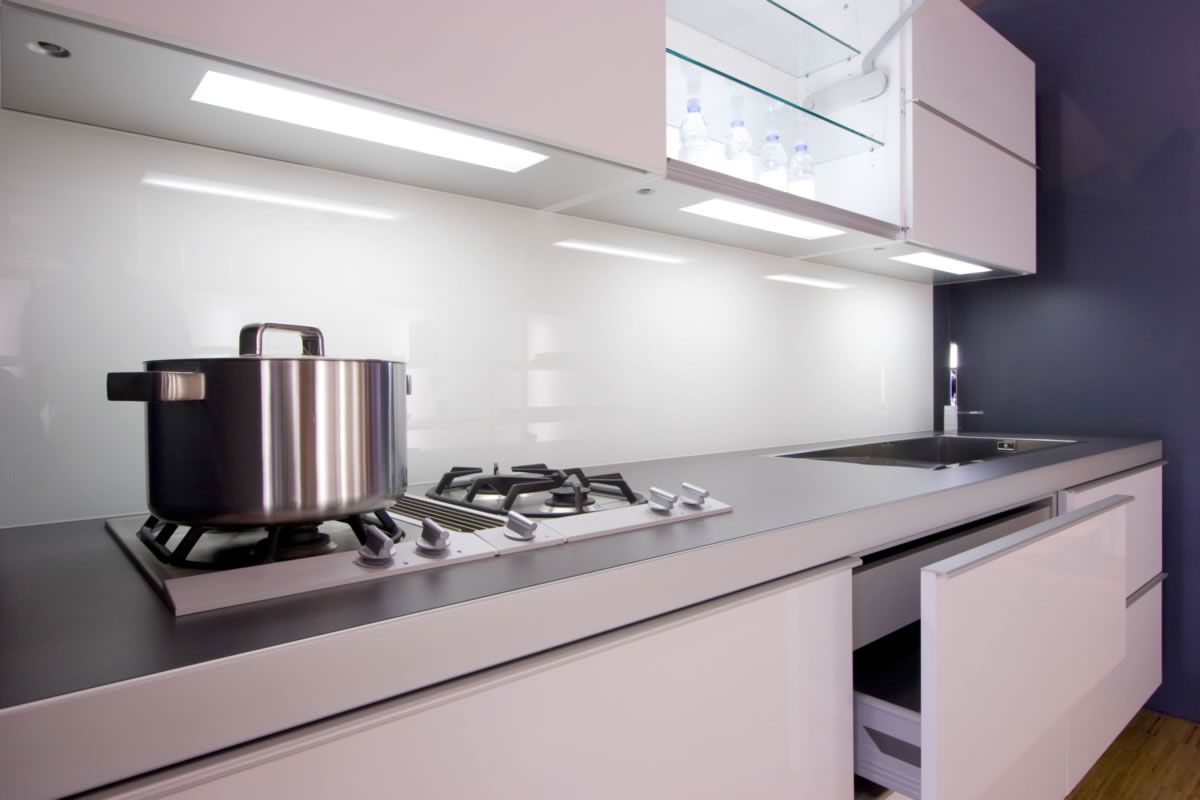 White Kitchen Grey Splashback white glass splashback | kitchens | pinterest | kitchen backsplash
