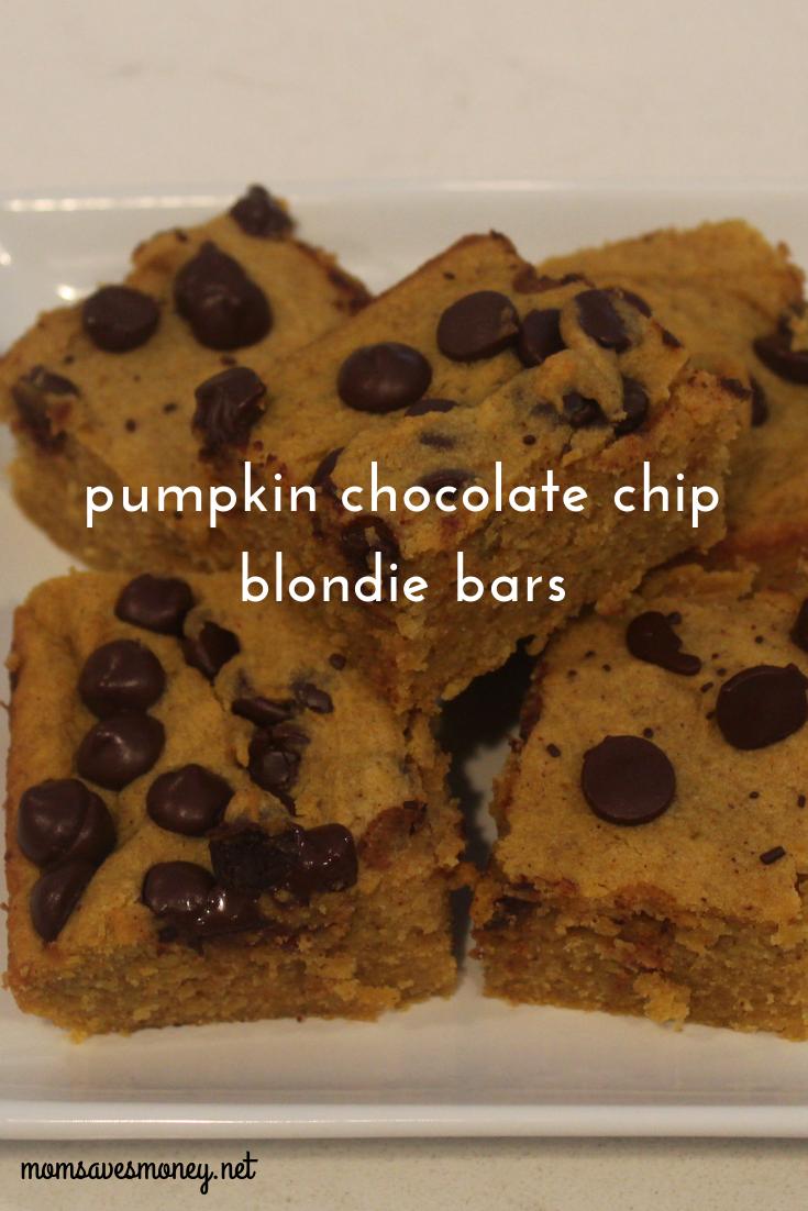 Pumpkin Blondies Pumpkin & Chocolate makes for a wonderful combination in these blondie bars! Amazing homemade dessert recipe.