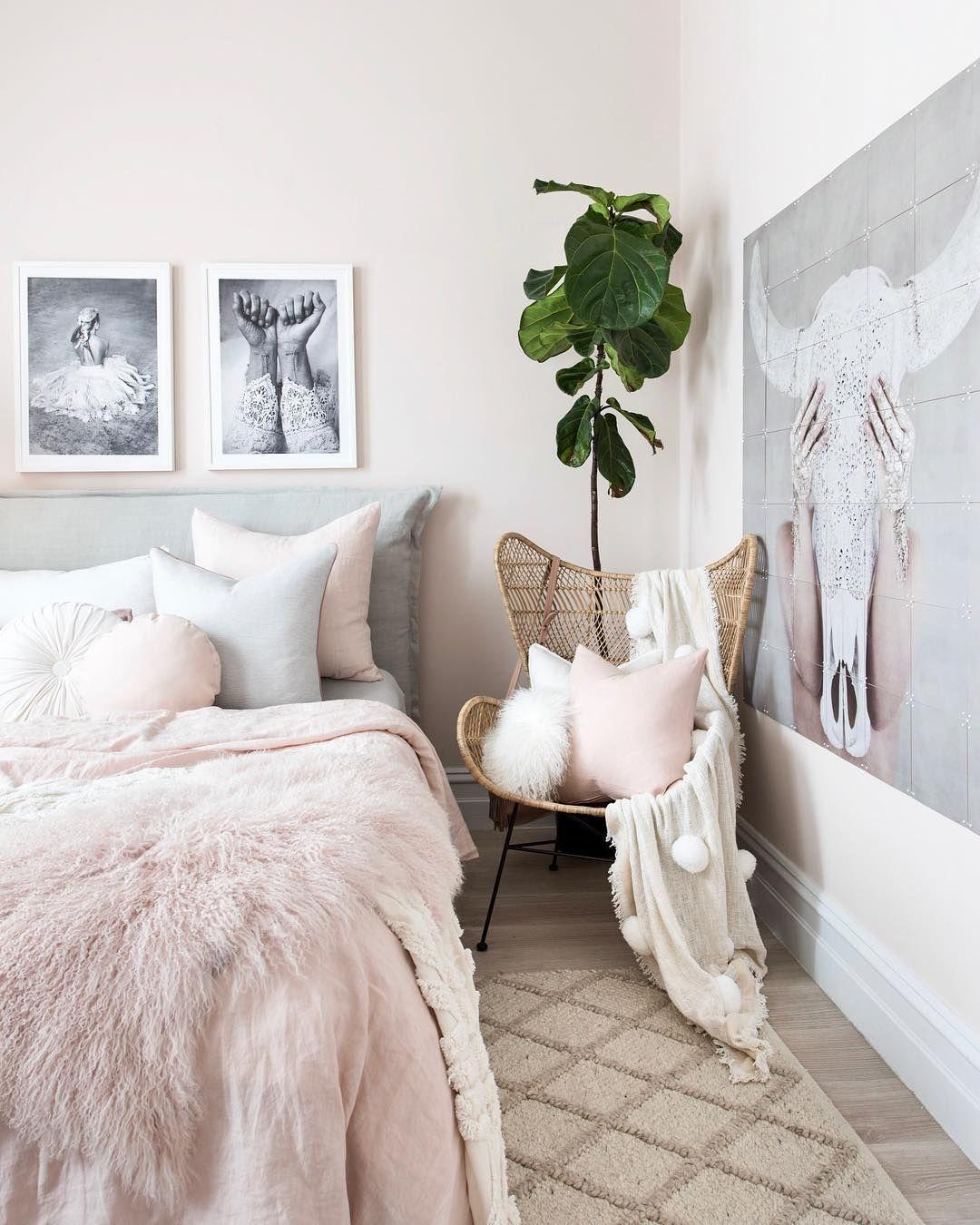 Blush Boho Bedroom.