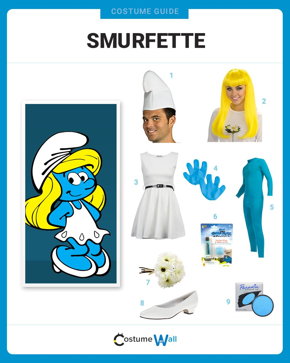 The best costume guide for dressing up like Smurfette 0d9b48a10b3b