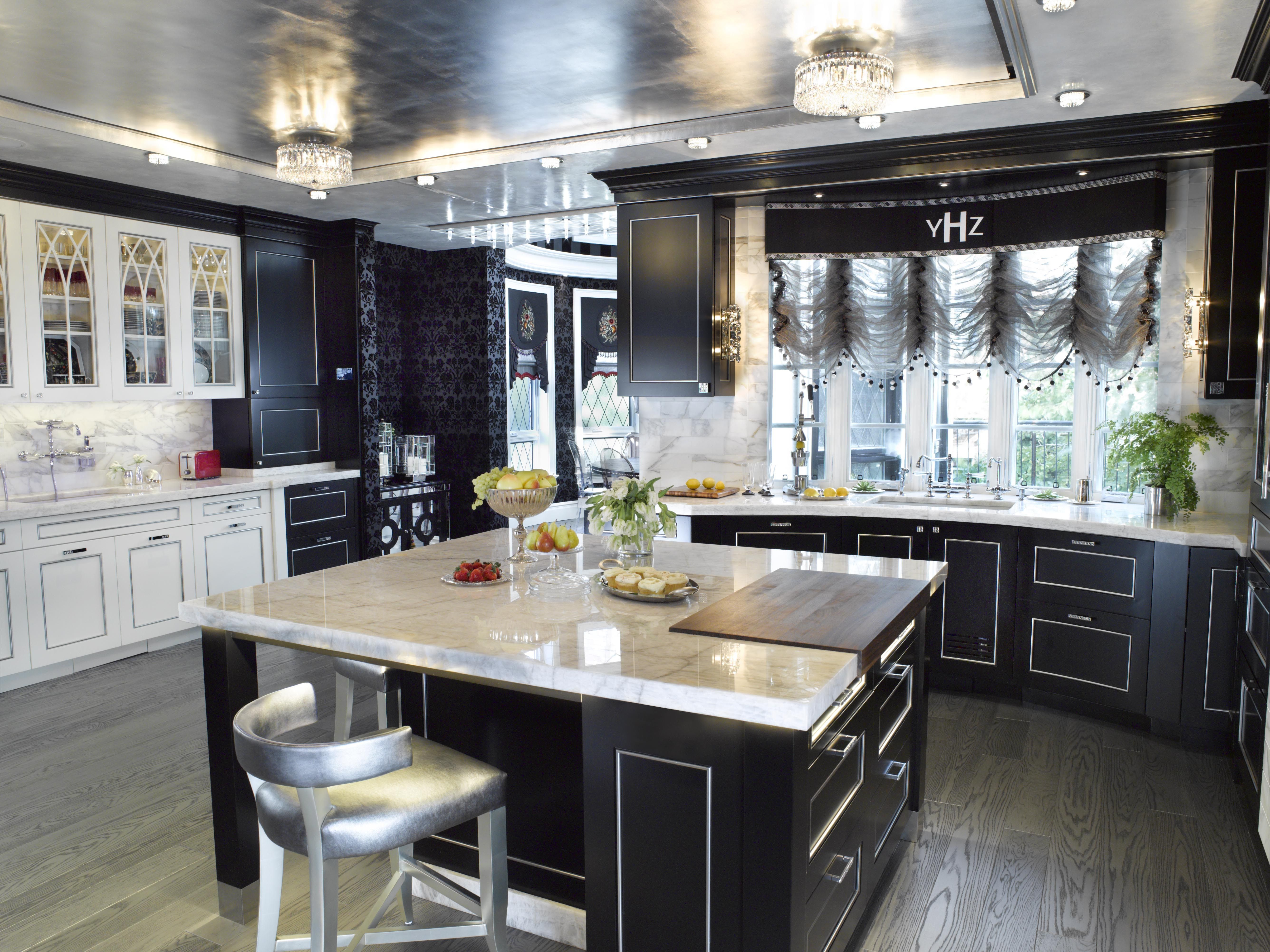 Black White And Silver Kitchen By St Charles Of New York To