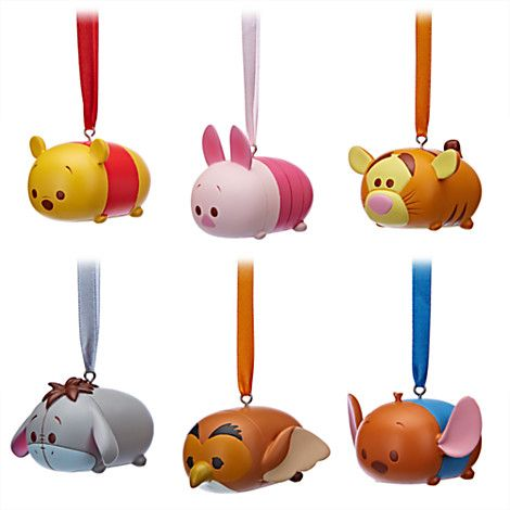 Winnie the Pooh and Friends \u0027\u0027Tsum Tsum\u0027\u0027 Ornament Set Disney