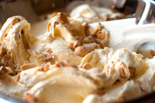 Buttermilk Ice Cream with Marcona Almonds