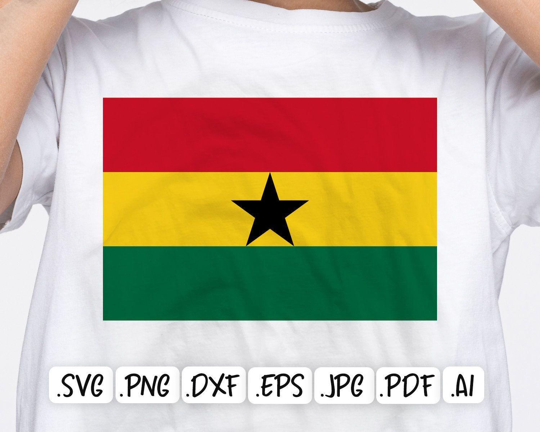 Ghana Flag Svg Design Etsy Svg Design Svg Ghana Flag