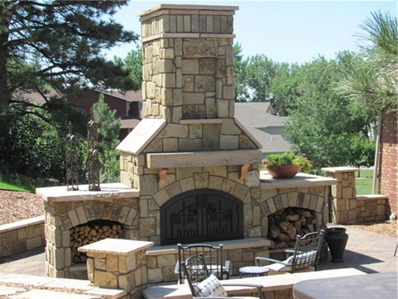 Pin By Charissa Knouff On Outdoor Projects Outdoor Stone Fireplaces Outdoor Fireplace Kits Outdoor Propane Fireplace