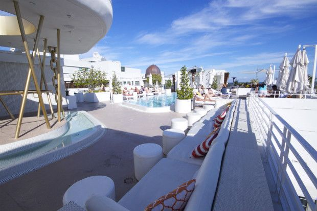 Dream South Beach Miami Hotel Rooftop Pool Party Action W Dj S Great Views Hip Cool Small Rooms Are Nicely Done But Tiny