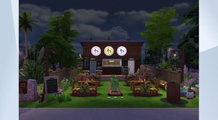 Check out this lot in The Sims 4 Gallery! - En lo más profundo de la ciudad se encuentra un pequeño lugar hecho con madera del campo. Si lo visitas podrás degutar una riaca comida tradiocnal americana. #bosque #woods #heart #cowboy #restaurant #restuarante