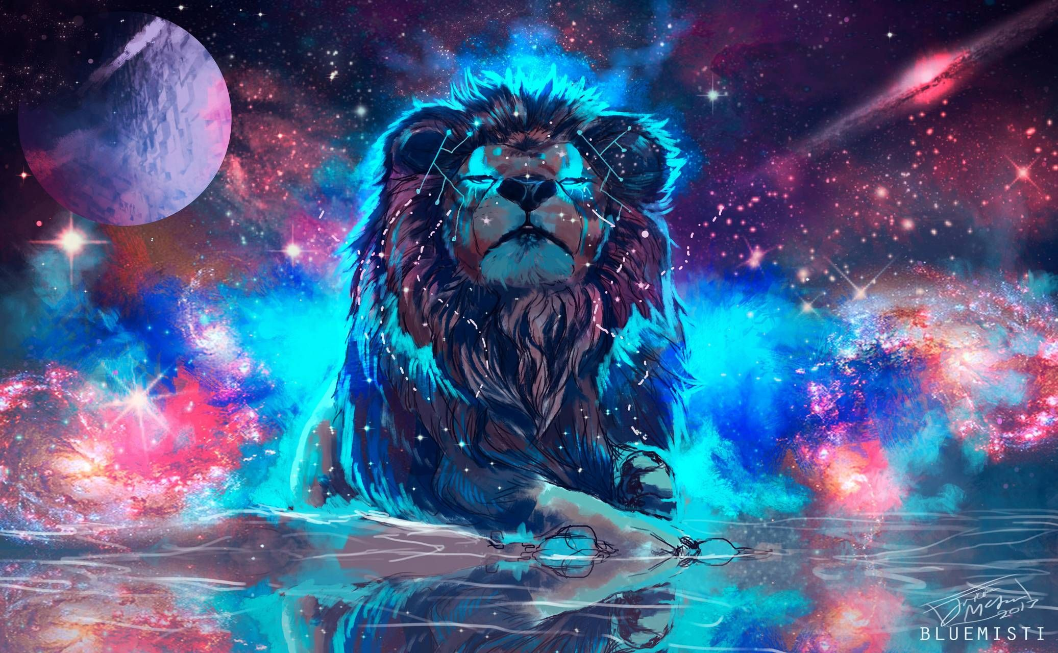 Download Galaxy Lion Wallpaper By Dontox 4d Free On Zedge Now Browse Millions Of Popular 4k Wallpapers And Rin Colorful Lion Lion Tapestry Lion Painting