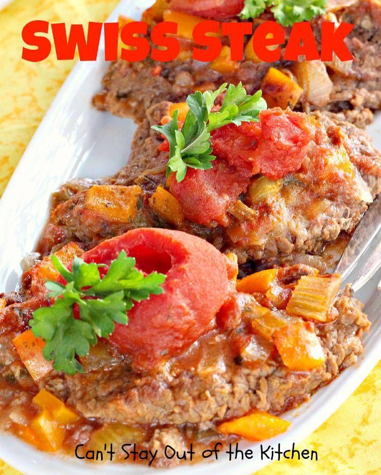 Swiss Steak Recipe Swiss steak, Food recipes, Beef recipes