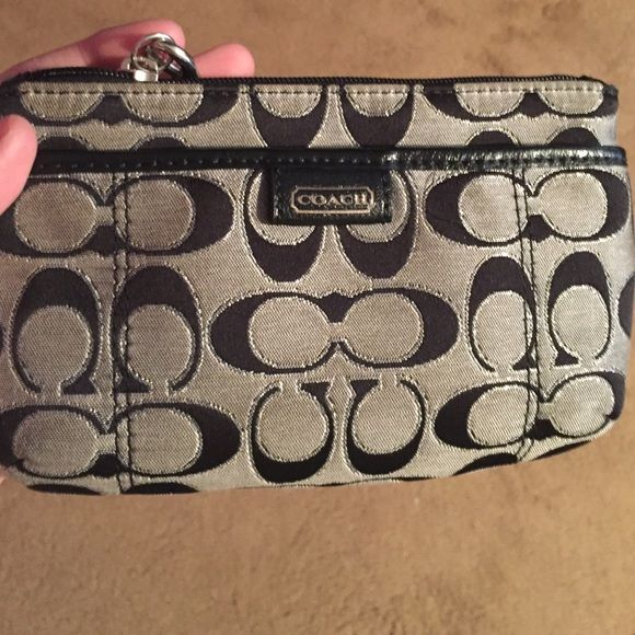 Coach wristlet A very cute classic coach wristlet! No stain or snags!! Coach Bags Clutches & Wristlets
