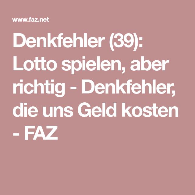 Richtig Lotto Spielen