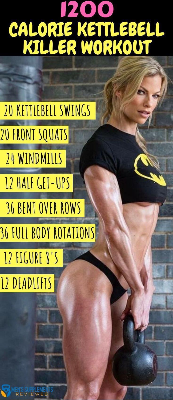 #fitness body #kettlebell #Shredded #workout Swing it to get awesome body! Effective kettlebell circ...