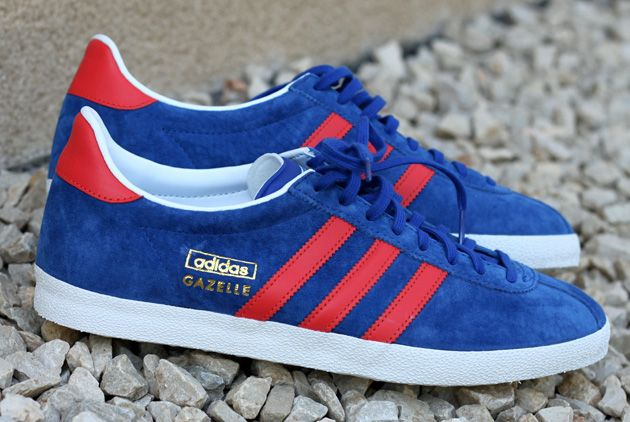 adidas Gazelle OG Bleu Rouge – Disponible  415a8d7a4d80