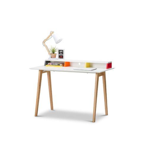 Nila Scandinavian Style Multi Colour Desk Wood Desk Chair Ikea Wood Desk Scandinavian Style Desk