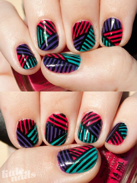 Patchwork Stripes | Little Nails