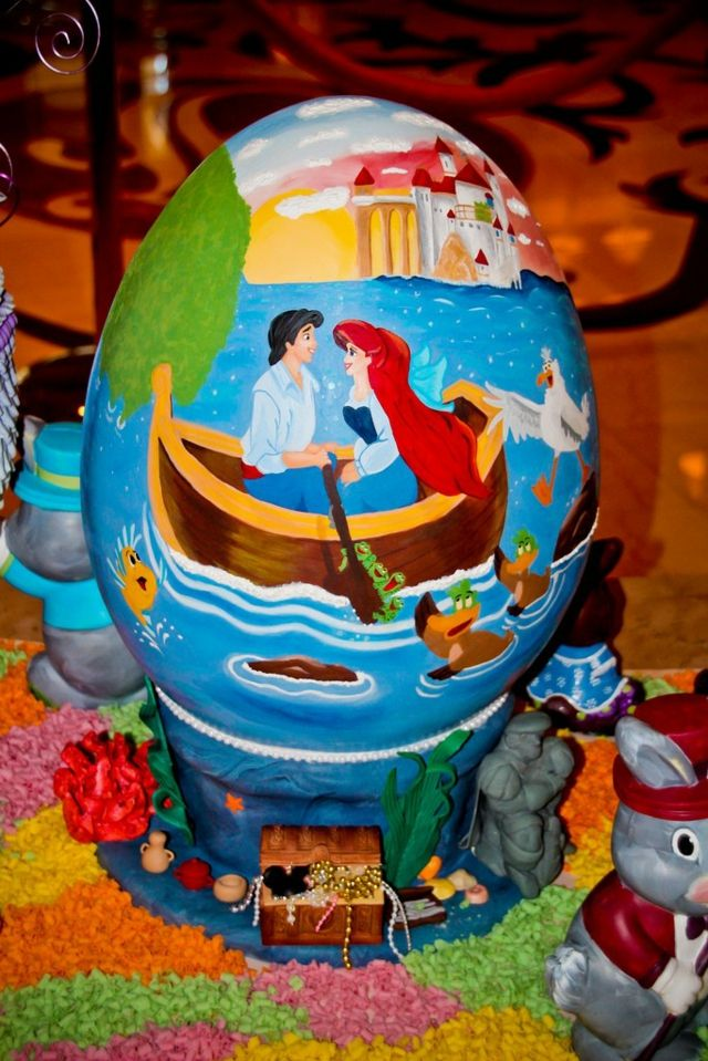La Petite Sirène Sur Un œuf Décoratif Cool Easter Eggs, Disney Easter Eggs,  Easter