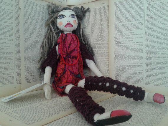 VENDUTA Poupette Ava OOAK art cloth doll bambola di di Poupettes, €72.00