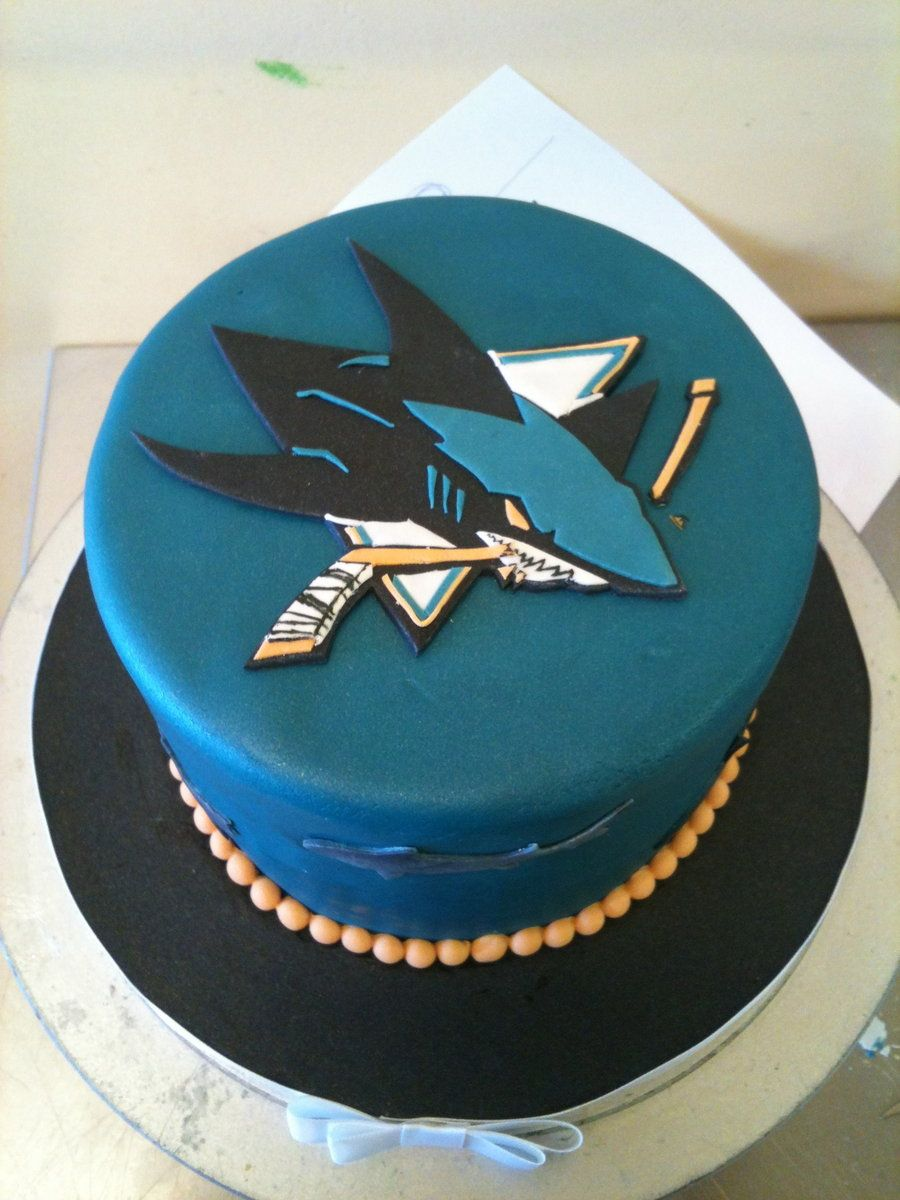 Here Is A Little San Jose Skarks Themed Cake Sharks