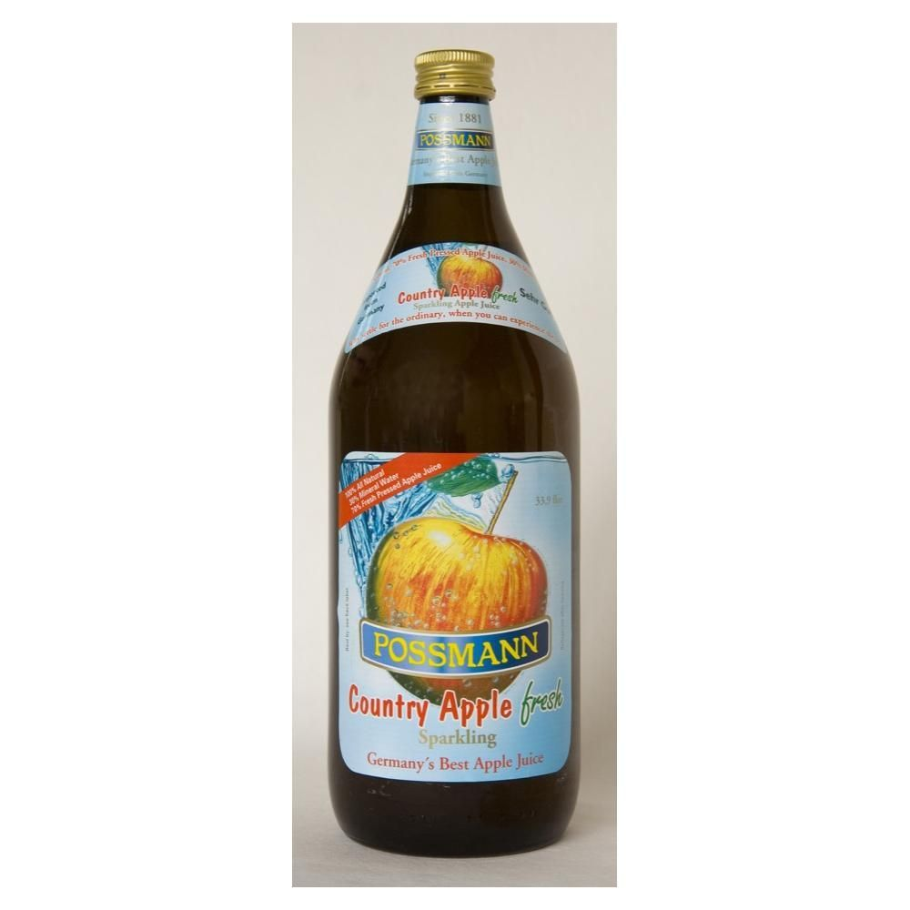 Possmann Sparkling Country Apple Juice 1 Liter comes in
