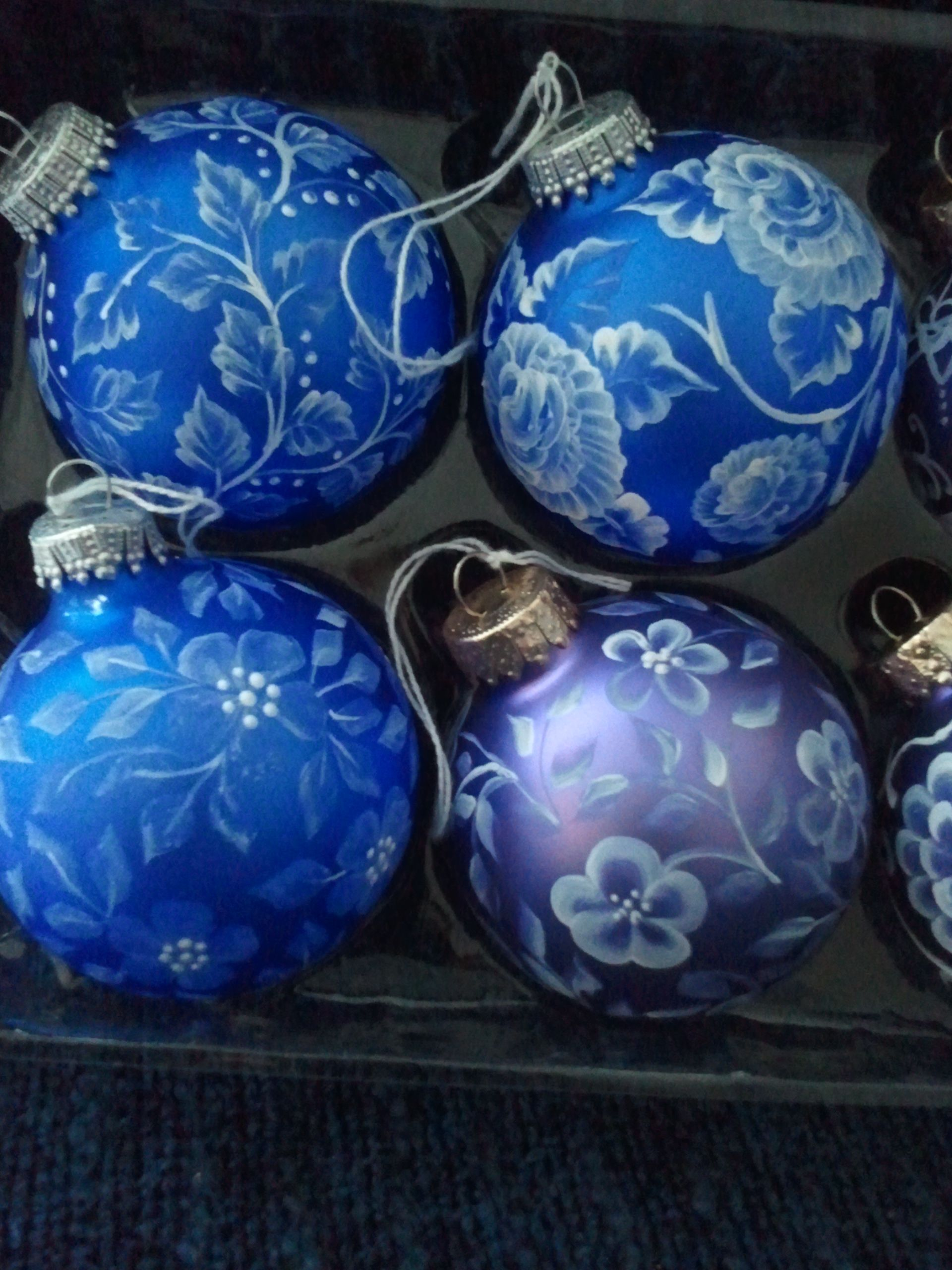Hand Painted Victorian Look Ornaments Make Great Wedding Gifts