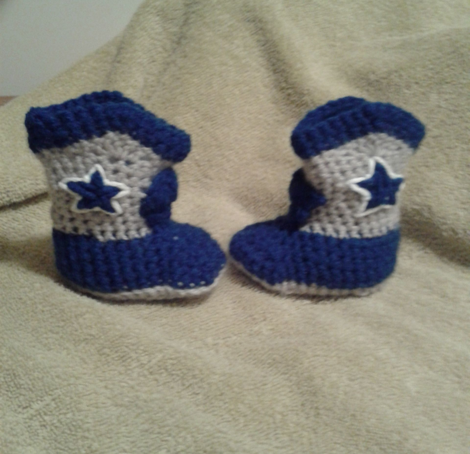Crocheted cowboy/cowgirl boots for infants and small children in ...