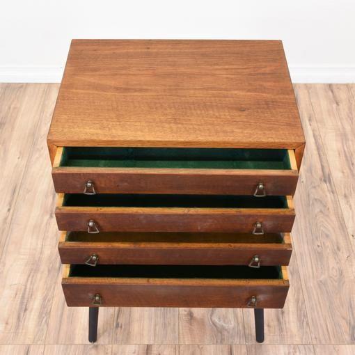 Mid Century Modern Jewelry Armoire Loveseat Vintage Furniture